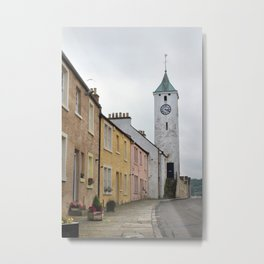 Main street, West Wemyss, Fife, Scotland Metal Print