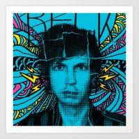 cassia beck Art Prints featuring Beck Hell Yes by Matt Crave