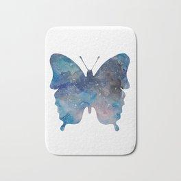 Blue butterfly Bath Mat