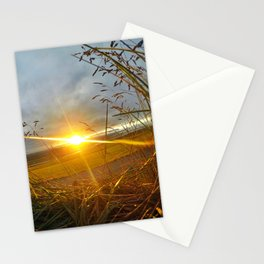 Icelandic Sunset from the Grass Roof of a Turf Farmhouse (2) Stationery Cards