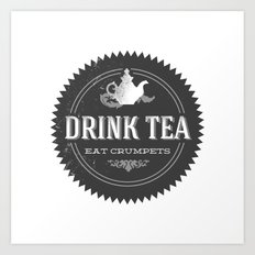 Tea Shop Logo Art Print