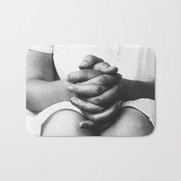 Hands - Alfred Stieglitz - Margaret Prosser's Clasped Hands in Lap Bath Mat