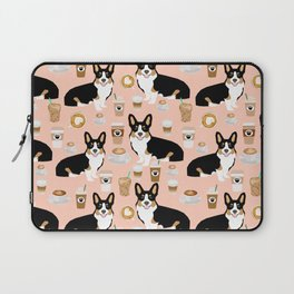 Welsh Corgi tri colored coffee lover dog gifts for corgis cafe latte pupuccino corgi crew Laptop Sleeve
