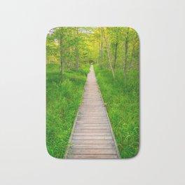 Hiking Trail in Acadia National Park Boardwalk Bath Mat