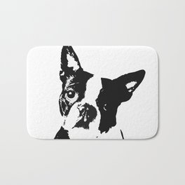 Very Mod, Very Cute.Boston Terrier Original Artwork Bath Mat