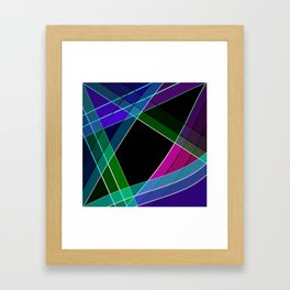 Multicolored silk 3 Framed Art Print