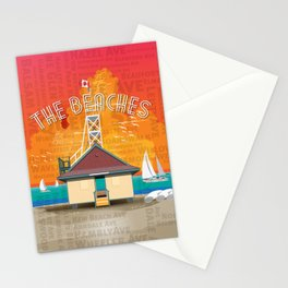 The Beaches Stationery Cards