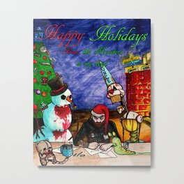 Happy Holidays From the Monsters in My Head Metal Print
