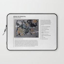 Horacio The Spanish Bull / Art Stories Laptop Sleeve