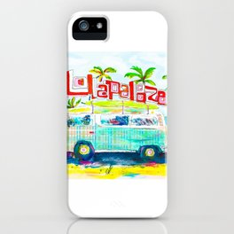 Lollapalooza Plaid Rad Beach Van iPhone Case