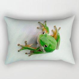 Green Tree Frog Rectangular Pillow