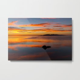 Vivid Sunset Great Salt Lake Metal Print