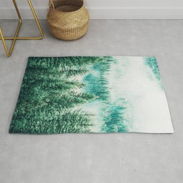 Forest + Fog #photography #nature Rug
