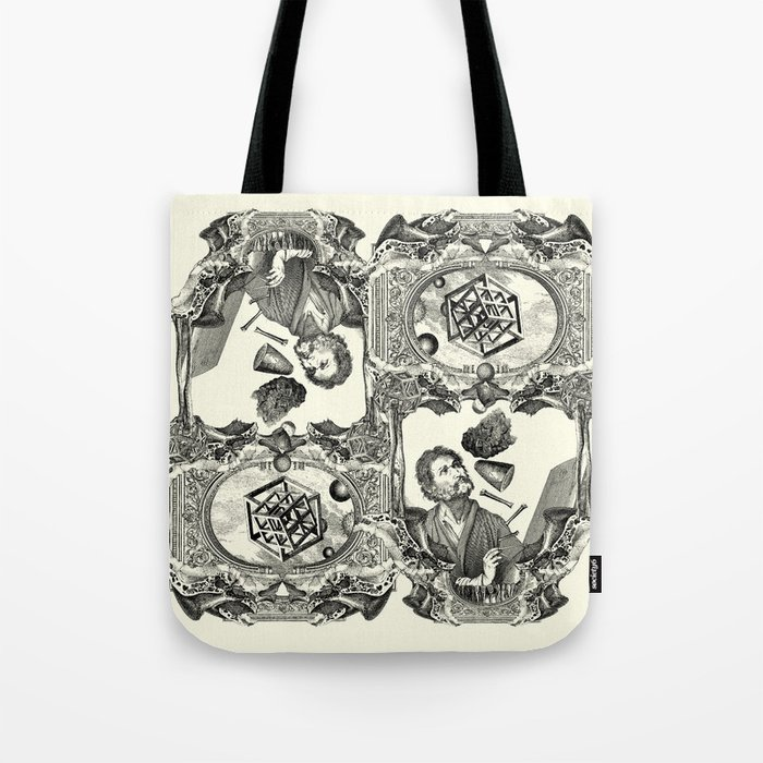 alchemy of dimensions tote bag by dividus society6. Black Bedroom Furniture Sets. Home Design Ideas