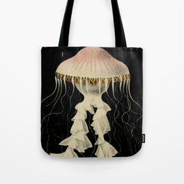 Vintage Illustration of a Jellyfish (1853) Tote Bag