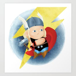 superhero n.3 Art Print