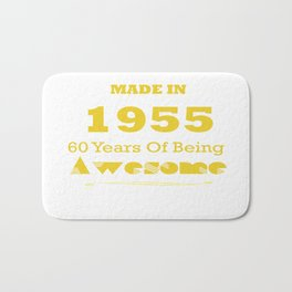 Made in 1955 - 60 Years of Being Awesome Bath Mat