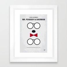 No324 My Mr Peabody minimal movie poster Framed Art Print