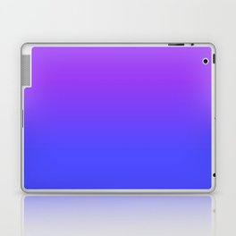 Neon Blue and Bright Neon Purpel Ombré Shade Color Fade Laptop & iPad Skin