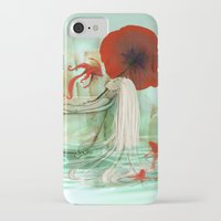 bath iPhone & iPod Cases featuring Bath by Drawberry