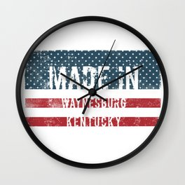 Made in Waynesburg, Kentucky Wall Clock