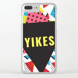 Retro Yikes Clear iPhone Case