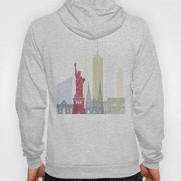 New York skyline poster Hoody