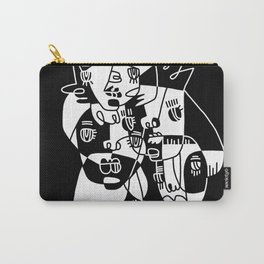 Abstract Faces JL20-20 Carry-All Pouch