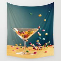 cocktail Wall Tapestries featuring Chocolate Cocktail by Asano Kitamura