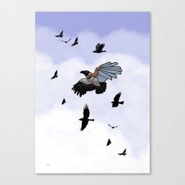 Cyborg Bird Canvas Print