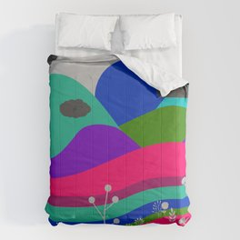 Jewel Tone Landscape Comforters