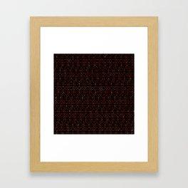 Black gold Framed Art Print