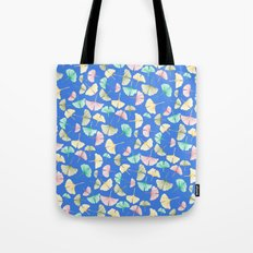 Gingko Leaves on Cobalt Tote Bag