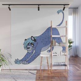 Sly Feline Wall Mural