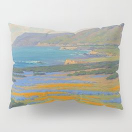 Spring Morning, Poppy and Lupine Flowers, California Coast by John Marshall Gamble Pillow Sham