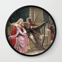 Edmund Blair Leighton - The End Of The Song Wall Clock