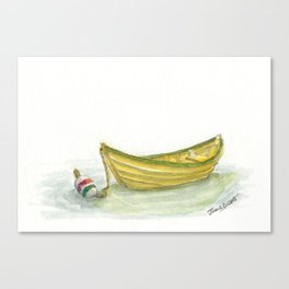 Golden Dory Canvas Print
