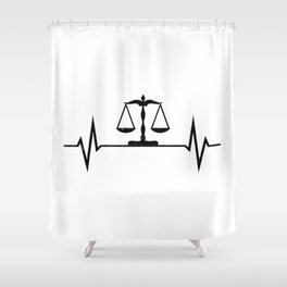 Scales Of Justice Heartbeat Lawyer Judge Shower Curtain