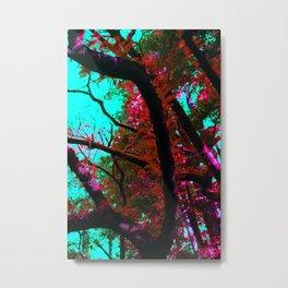 Psychedelic Forrest Metal Print