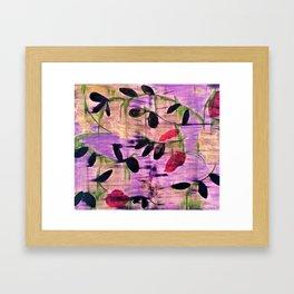 Purple Garden. Purple, Vines, Garden, Flowers, Green, Abstract, Jodilynpaintings Framed Art Print