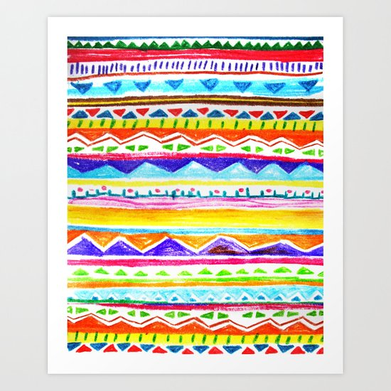 Autumn Tribal Art Print
