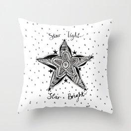 Star light, Star bright Artwork Pen and Ink Throw Pillow