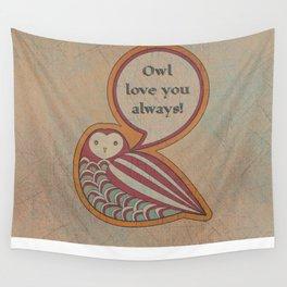 Folksy Owl Wall Tapestry