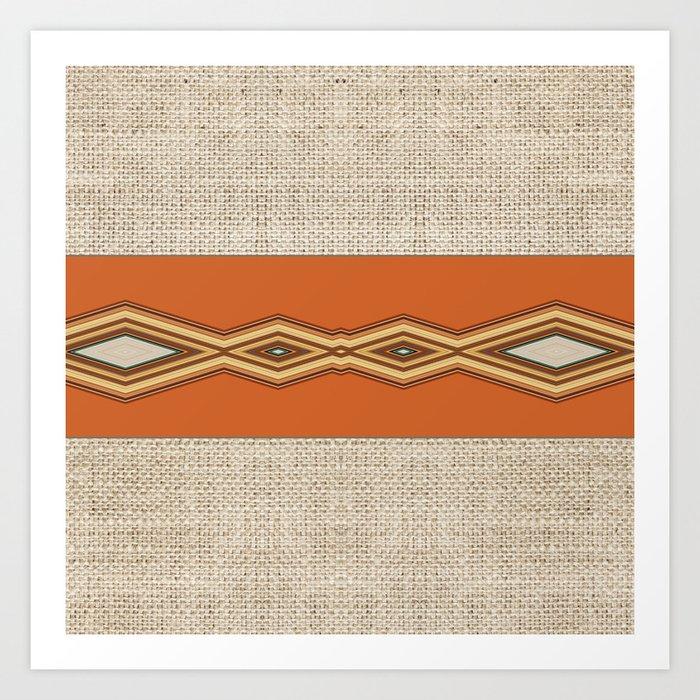 Southwestern Earth Tone Texture Design Art Print