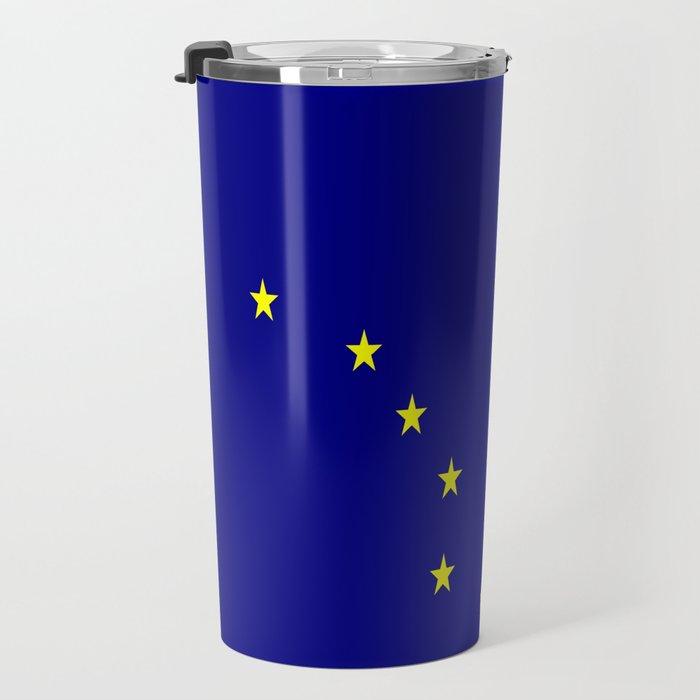flag of alaska,america,usa,ice, north,Midnight Sun,Alaskan,Anchorage,Fairbanks,Juneau Travel Mug