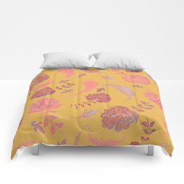 Paradise Patterns - Yellow & Coral Comforters