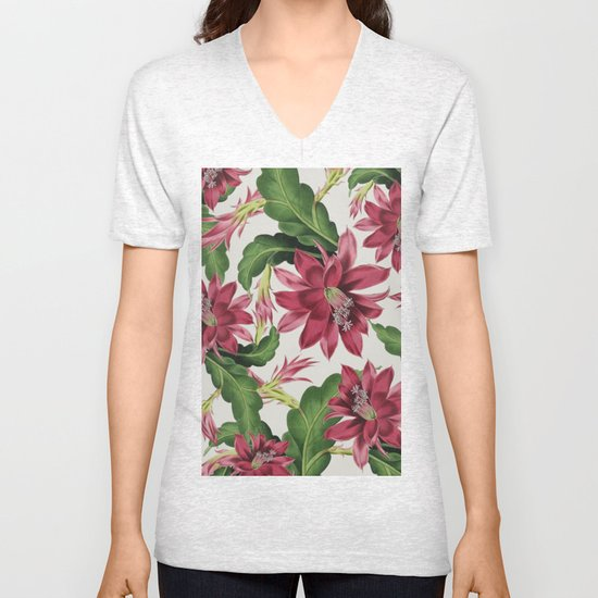 Flowers 11b Unisex V Neck By Dada22 Society6