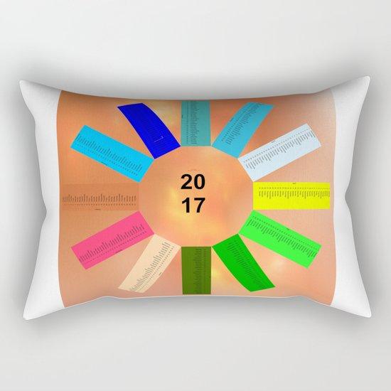 Calendar 2017 en easy star Rectangular Pillow