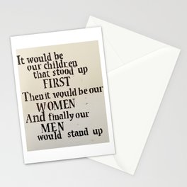 It Would Be Our Children Stationery Cards