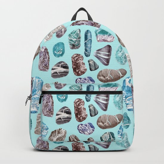 Turquoise Sea Stones Backpack